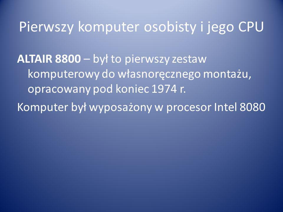 Intel 8080 wyprodukowany przez Intela w kwietniu 1974 W technologii n-MOS tzn.