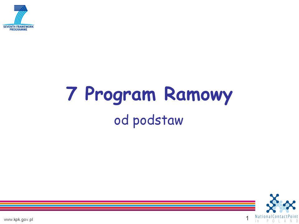 www.kpk.gov.pl 2 Program Ramowy: dlaczego siódmy.Kraje UE przeznaczają od 1984 r.