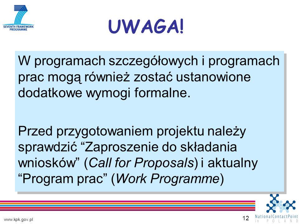 www.kpk.gov.pl 12 UWAGA.