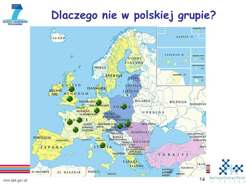 www.kpk.gov.pl 14 Dlaczego nie w polskiej grupie