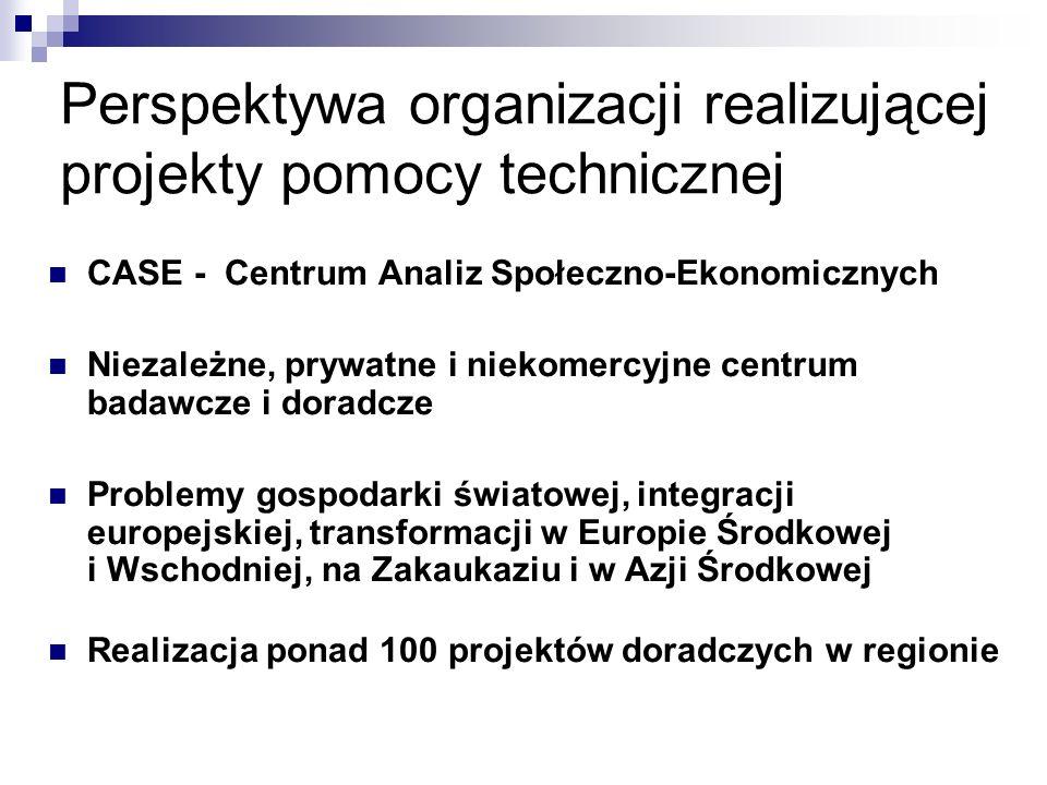 Definicja pomocy technicznej… doradztwo, przekazanie umiejętności oraz know-how mające na celu zwiększenia potencjału kraju-odbiorcy do podejmowania działań rozwojowych w swoim kraju obejmujące finansowanie szkoleń obywateli państw rozwijających oraz pracy konsultantów i doradców z krajów wysoko rozwiniętych … implikuje podstawowe pytania: Czy polskie doświadczenia warto przekazywać.