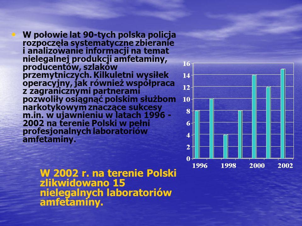 W połowie lat 90-tych polska policja rozpoczęła systematyczne zbieranie i analizowanie informacji na temat nielegalnej produkcji amfetaminy, producent