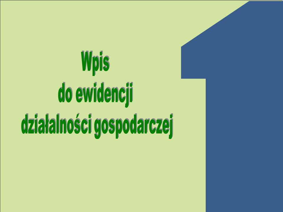 Obowiązkowy wpis do Krajowego Rejestru Urzędowego Podmiotów Gospodarki Narodowej (REGON) w urzędzie statystycznym: Urząd Statystyczny w Szczecinie 70-530 Szczecin ul.