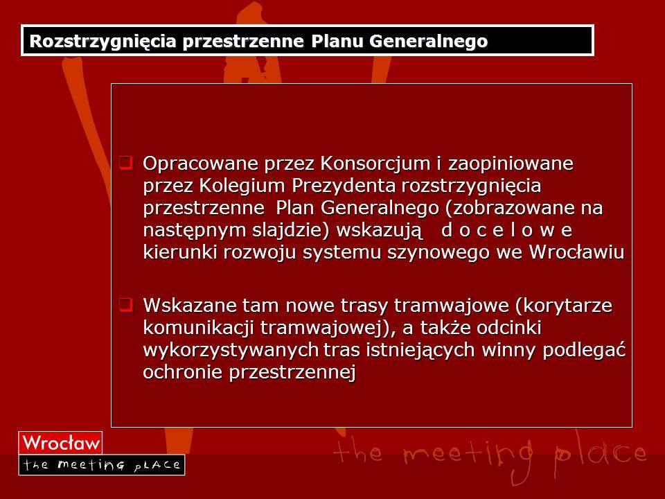 Rozstrzygnięcia przestrzenne Planu Generalnego Opracowane przez Konsorcjum i zaopiniowane przez Kolegium Prezydenta rozstrzygnięcia przestrzenne Plan