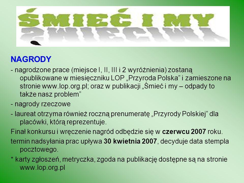 1. Na stronie Zarządu Głównego www.lop.org.pl zamieszczane są artykuły merytoryczne, scenariusze, testy i konkursy dla dzieci. Wszyscy chętni do współ