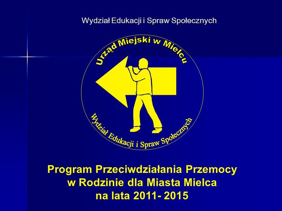 Wydział Edukacji i Spraw Społecznyc h Podstawa prawna Programu.