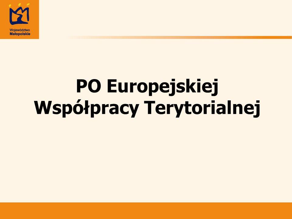 PO Europejskiej Współpracy Terytorialnej