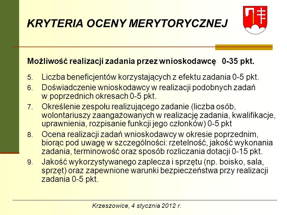 KRYTERIA OCENY MERYTORYCZNEJ Kalkulacja kosztów 0-25 pkt.