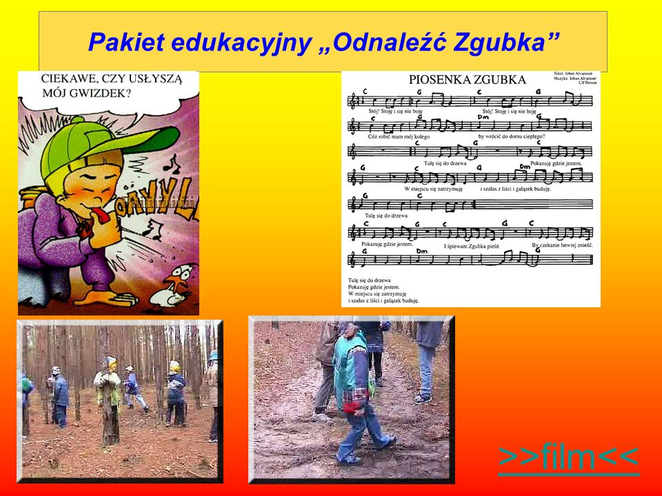 Pakiet edukacyjny Odnaleźć Zgubka >>film<<