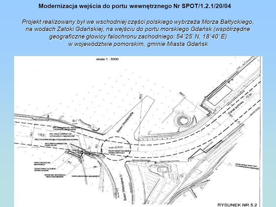 Projekt realizowany był we wschodniej części polskiego wybrzeża Morza Bałtyckiego, na wodach Zatoki Gdańskiej, na wejściu do portu morskiego Gdańsk (w
