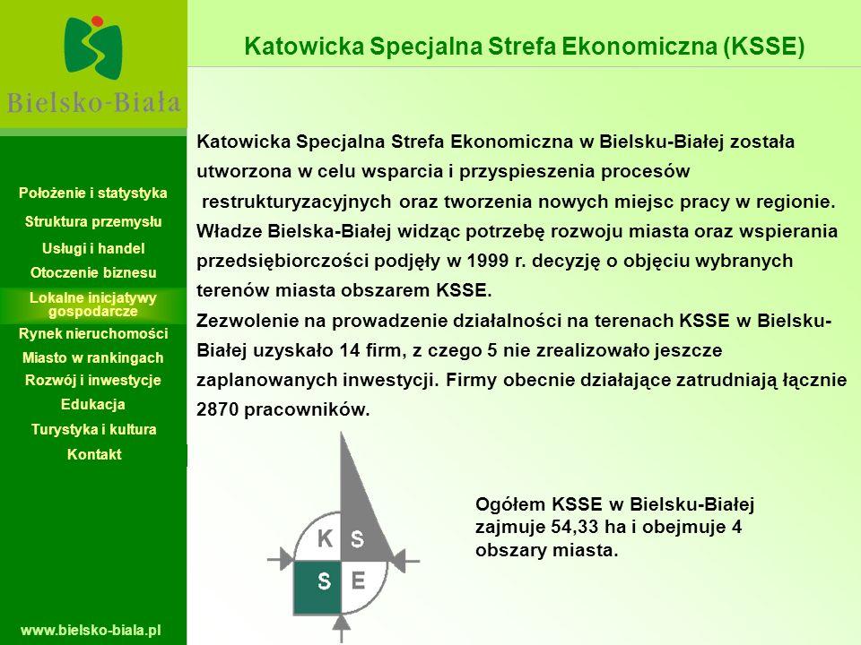 www.bielsko-biala.pl Katowicka Specjalna Strefa Ekonomiczna w Bielsku-Białej została utworzona w celu wsparcia i przyspieszenia procesów restrukturyza