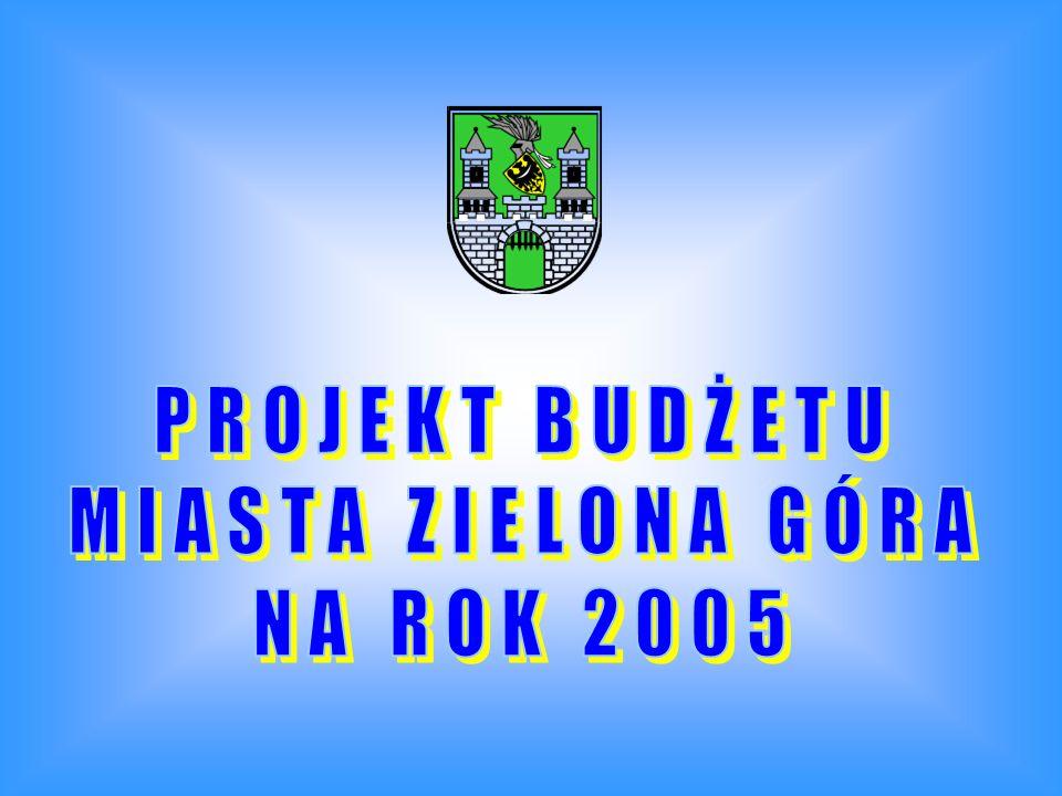 BUDŻET MIASTA ZIELONA GÓRA NA ROK 2005 - PROJEKT