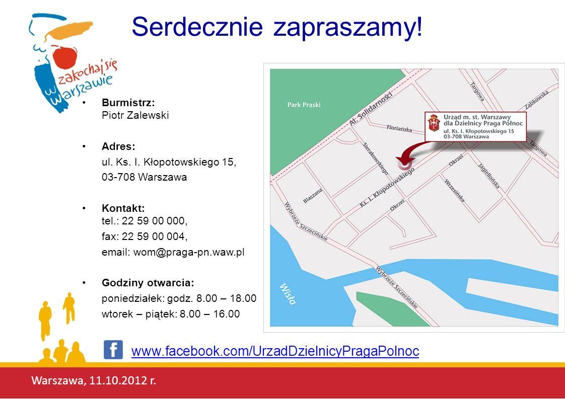 Warszawa, 11.10.2012 r.Jaka jest Praga-Północ. Niepowtarzalna, intrygująca, autentyczna.