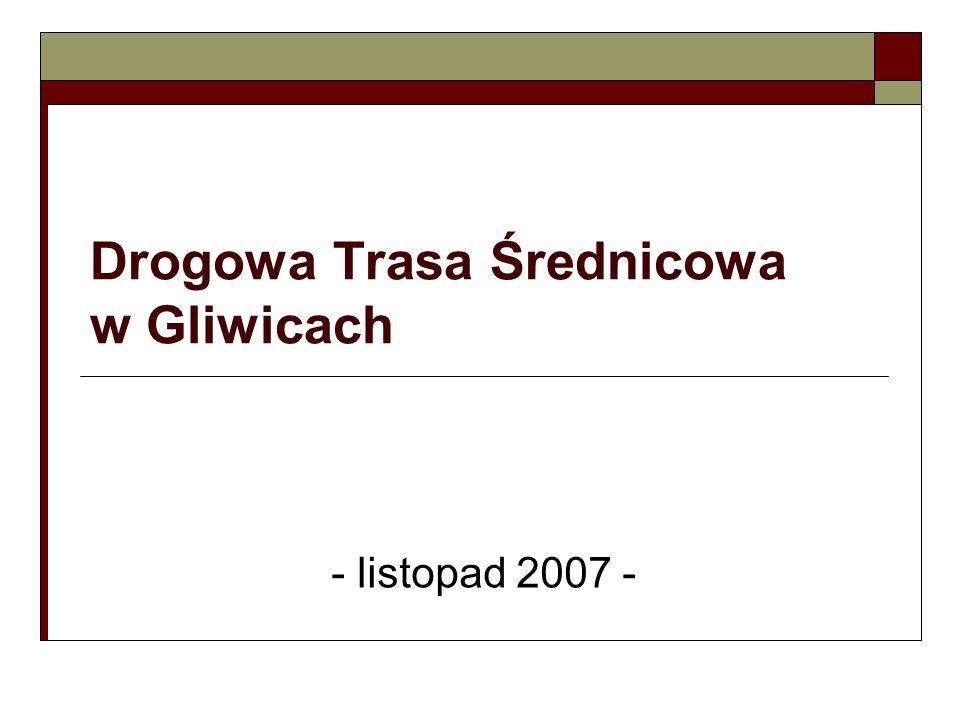 Okolice skrzyżowania projektowanej DTŚ z ul.