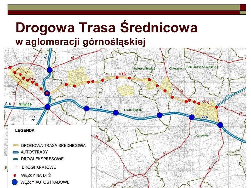 Drogowa Trasa Średnicowa w planach zagospodarowania Gliwic w planach od ponad 40 lat: w 1964- droga KPII w 1979- droga 02 KE w 1994- droga XIII/0 (G 1/4 i GP 2/3) przebieg DTŚ opisują 4 aktualne miejscowe plany zagospodarowania przestrzennego