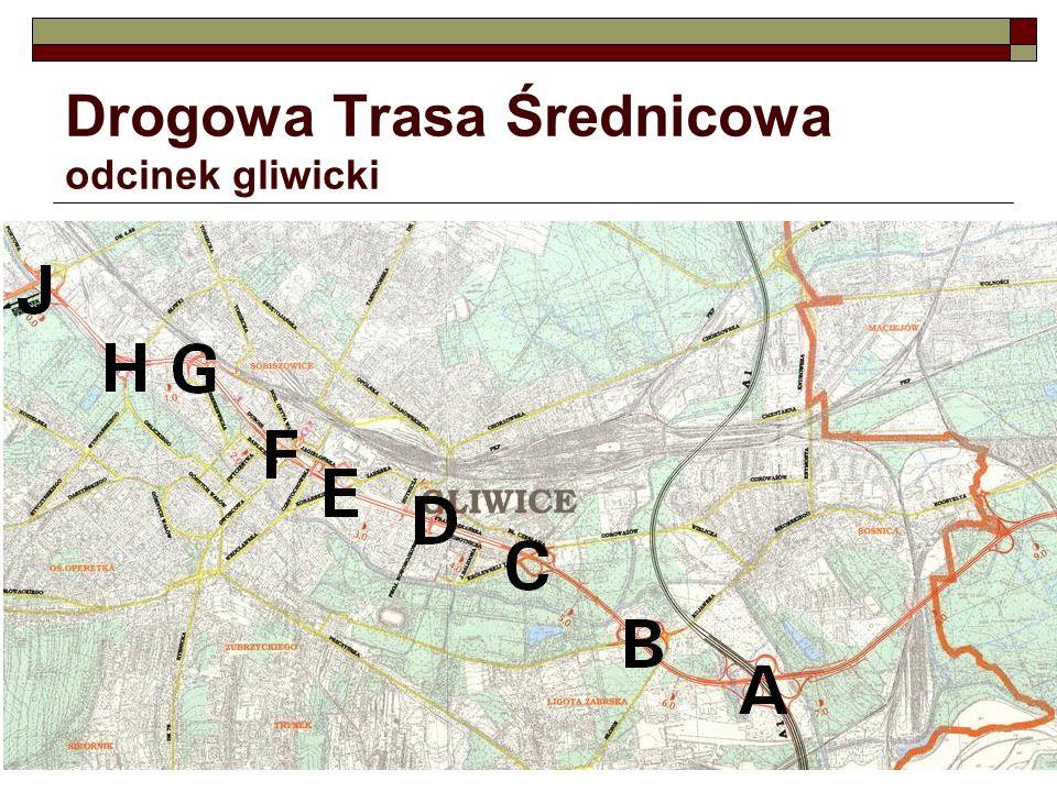 Okolice skrzyżowania projektowanej DTŚ z projektowaną ul.