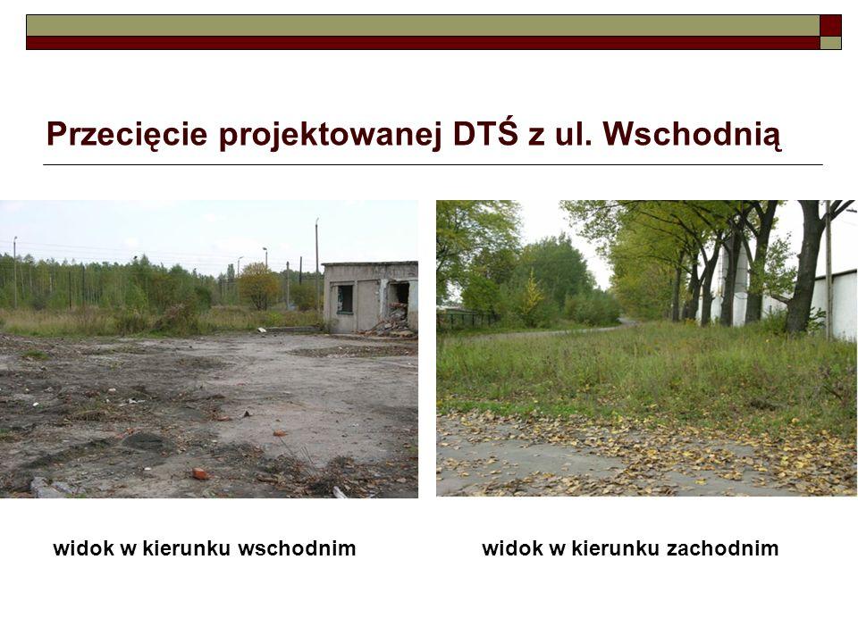 Przecięcie projektowanej DTŚ z ul. Wschodnią widok w kierunku wschodnimwidok w kierunku zachodnim