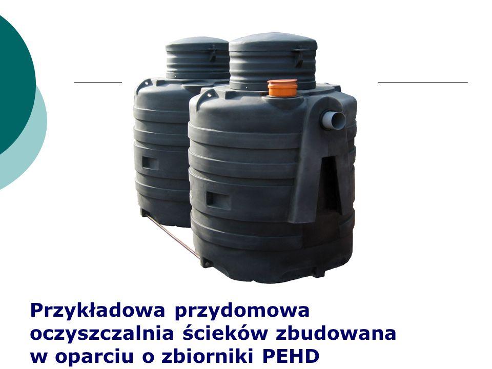 Przykładowa przydomowa oczyszczalnia ścieków zbudowana w oparciu o zbiorniki PEHD