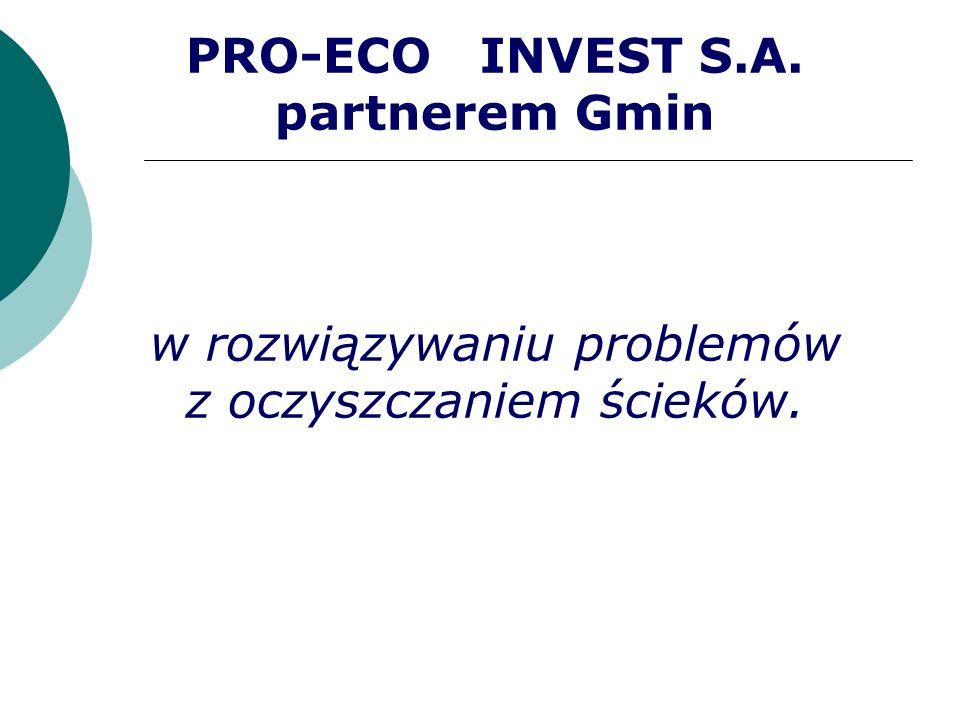 PRO-ECO INVEST S.A. partnerem Gmin w rozwiązywaniu problemów z oczyszczaniem ścieków.