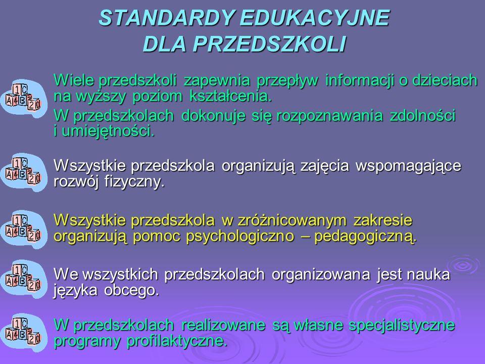 STANDARDY EDUKACYJNE DLA LICEÓW OGÓLNOKSZTAŁCĄCYCH Wszystkie licea zapewniają naukę co najmniej dwóch języków obcych.