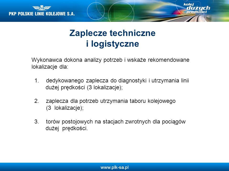 www.plk-sa.pl Wykonawca dokona analizy potrzeb i wskaże rekomendowane lokalizacje dla: 1. dedykowanego zaplecza do diagnostyki i utrzymania linii duże