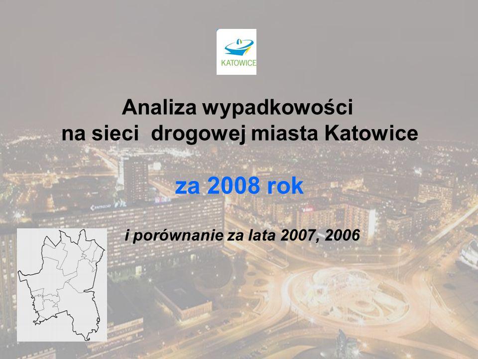 Analiza wypadkowości na sieci drogowej miasta Katowice za 2008 rok i porównanie za lata 2007, 2006