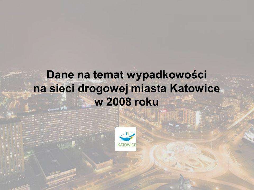 Dane na temat wypadkowości na sieci drogowej miasta Katowice w 2008 roku