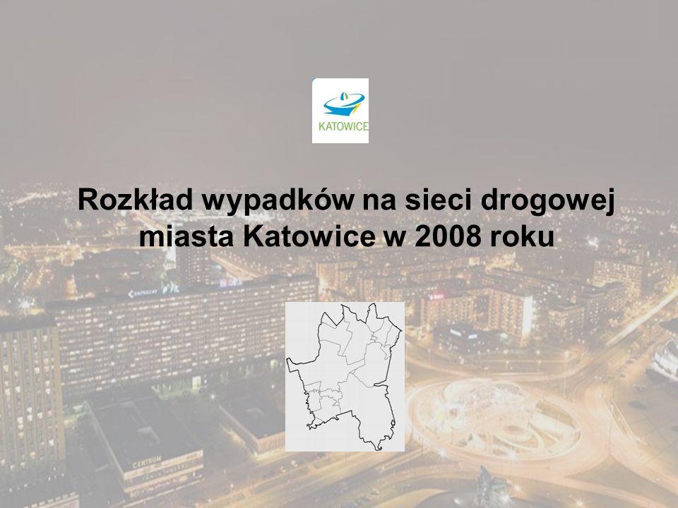 Rozkład wypadków na sieci drogowej miasta Katowice w 2008 roku