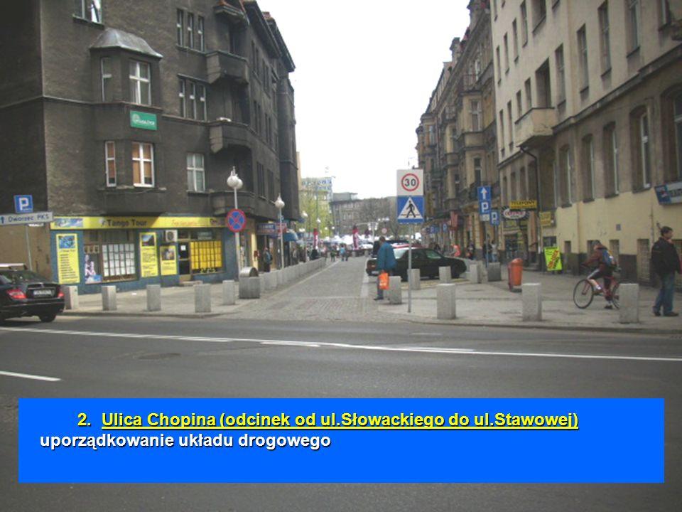 2.Ulica Chopina (odcinek od ul.Słowackiego do ul.Stawowej) uporządkowanie układu drogowego 2. Ulica Chopina (odcinek od ul.Słowackiego do ul.Stawowej)