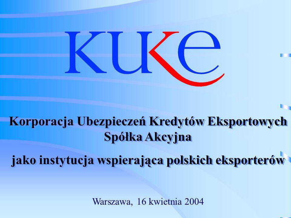 Korporacja Ubezpieczeń Kredytów Eksportowych Spółka Akcyjna jako instytucja wspierająca polskich eksporterów Korporacja Ubezpieczeń Kredytów Eksportow