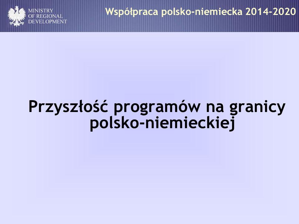 Współpraca polsko-niemiecka 2014-2020 Przyszłość programów na granicy polsko-niemieckiej