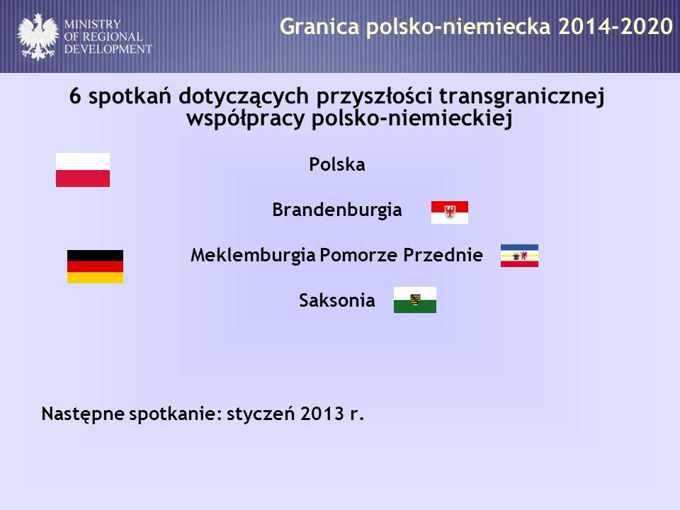 Granica polsko-niemiecka 2014-2020 6 spotkań dotyczących przyszłości transgranicznej współpracy polsko-niemieckiej Polska Brandenburgia Meklemburgia P