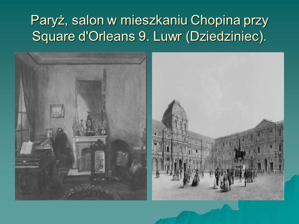 Paryż, salon w mieszkaniu Chopina przy Square d'Orleans 9. Luwr (Dziedziniec).