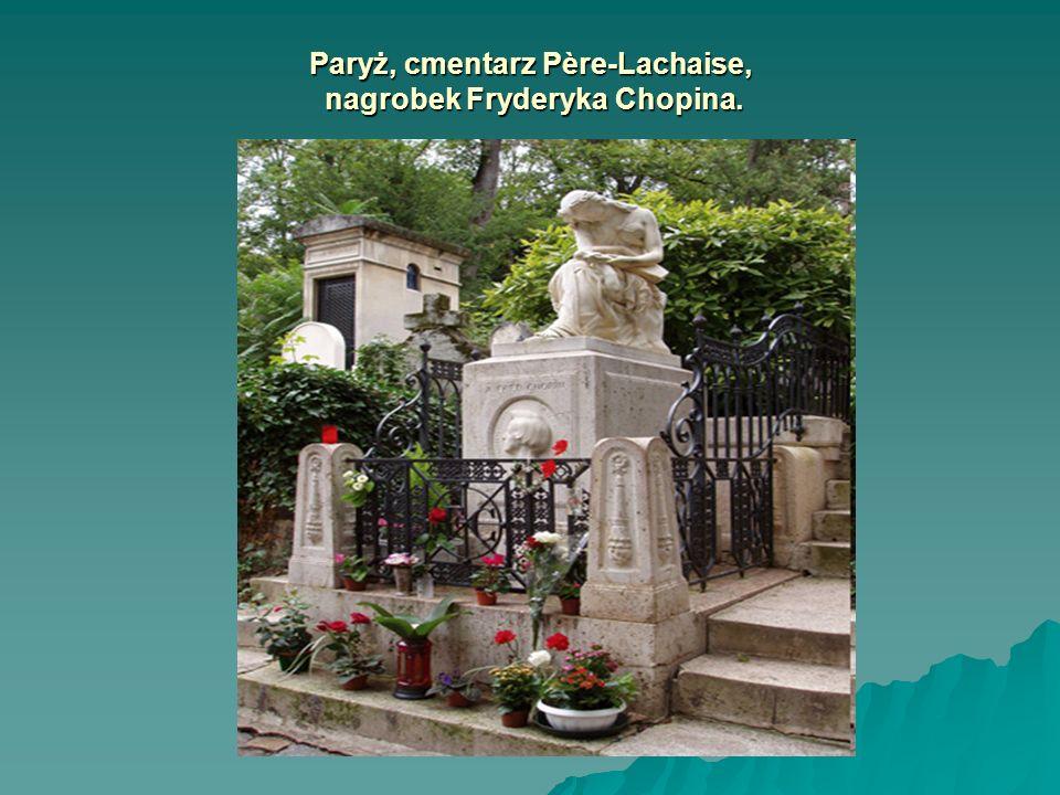 Paryż, cmentarz Père-Lachaise, nagrobek Fryderyka Chopina. Paryż, cmentarz Père-Lachaise, nagrobek Fryderyka Chopina.