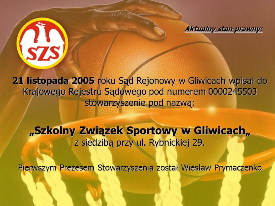 Aktualny stan prawny: 21 listopada 2005 roku Sąd Rejonowy w Gliwicach wpisał do Krajowego Rejestru Sądowego pod numerem 0000245503 stowarzyszenie pod