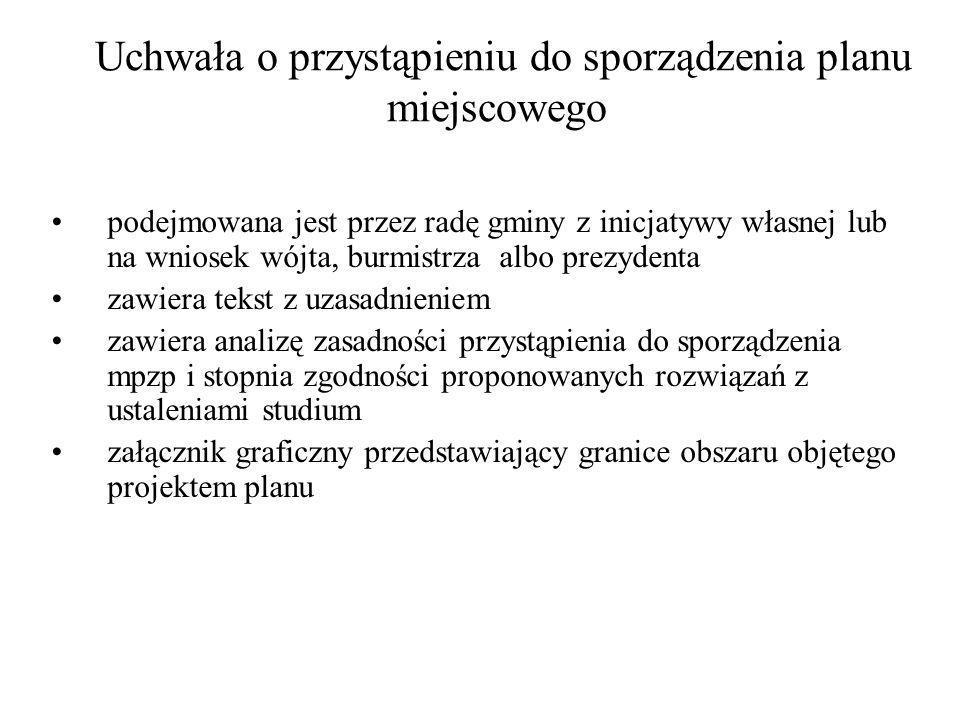 Projekt mpzp (po SIWZ) sporządza wójt, burmistrz, prezydent miasta zawiera część tekstową i graficzną (skala 1:1000) zgodne ze studium, oraz przepisami odrębnymi