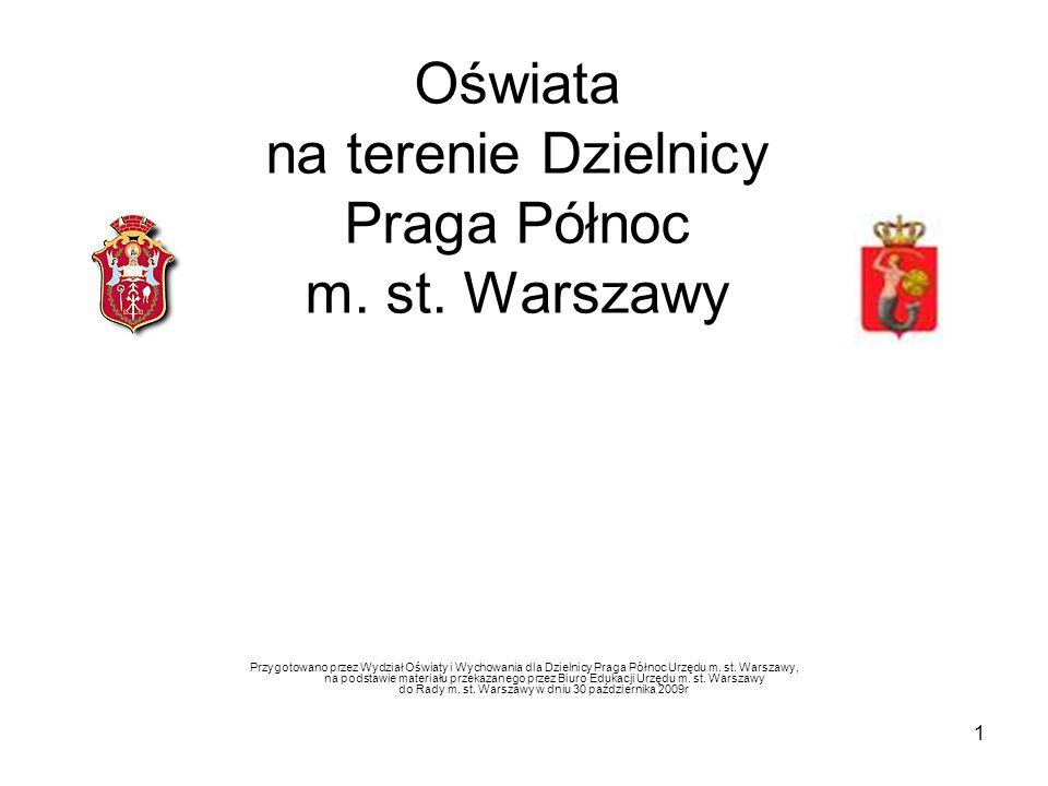 1 Oświata na terenie Dzielnicy Praga Północ m.st.