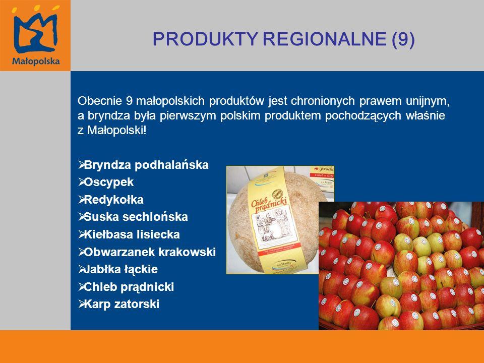 Obecnie 9 małopolskich produktów jest chronionych prawem unijnym, a bryndza była pierwszym polskim produktem pochodzących właśnie z Małopolski! Bryndz