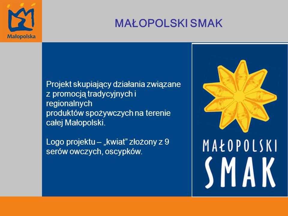 Projekt skupiający działania związane z promocją tradycyjnych i regionalnych produktów spożywczych na terenie całej Małopolski. Logo projektu – kwiat