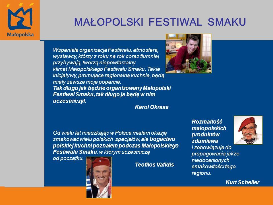 Plany na przyszłość Galeria Małopolskiego Smaku Samorząd Województwa Małopolskiego będzie nadal wspierał i rozwijał działania zmierzające do budowy silnej marki Małopolski Smak.