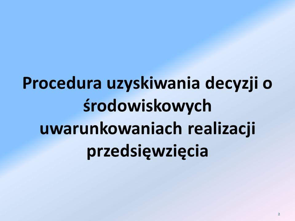 Procedura uzyskiwania decyzji o środowiskowych uwarunkowaniach realizacji przedsięwzięcia 2