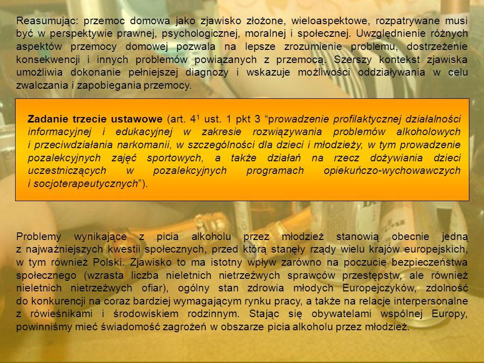 Zadanie trzecie ustawowe (art. 4 1 ust. 1 pkt 3 prowadzenie profilaktycznej działalności informacyjnej i edukacyjnej w zakresie rozwiązywania problemó