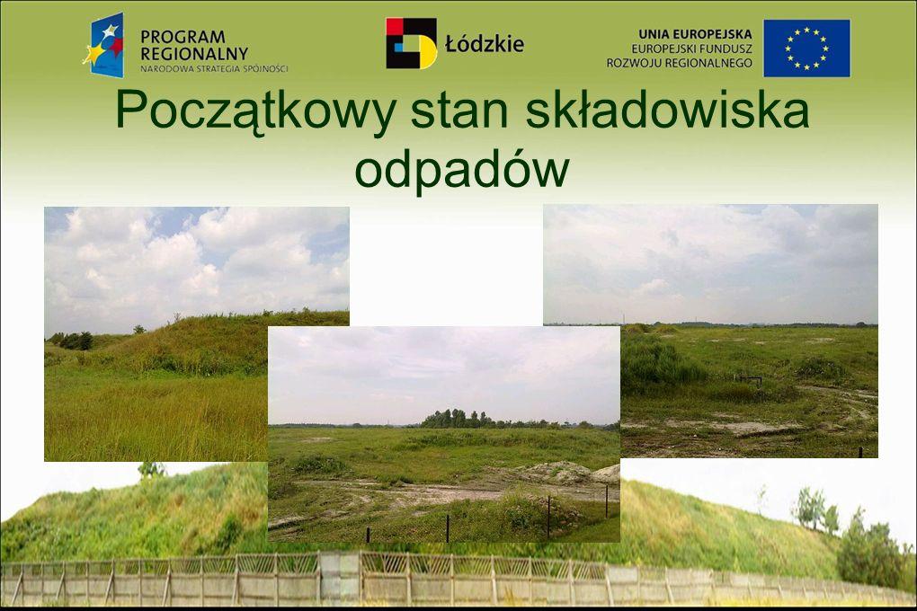 Powierzchnia terenu Ogólna powierzchnia terenu wysypiska wynosi łącznie z pasami zieleni 10,38 ha, w tym: - powierzchnia części A - 3,25 ha - powierzchnia części B - 4,265 ha - powierzchnia zaplecza - 0,35 ha - powierzchnia zieleni izolacyjnej - 2,515 ha