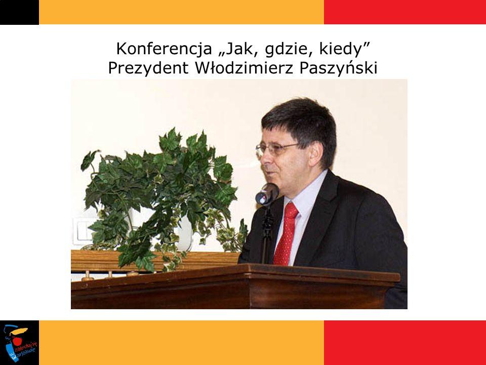 Konferencja Jak, gdzie, kiedy Prezydent Włodzimierz Paszyński