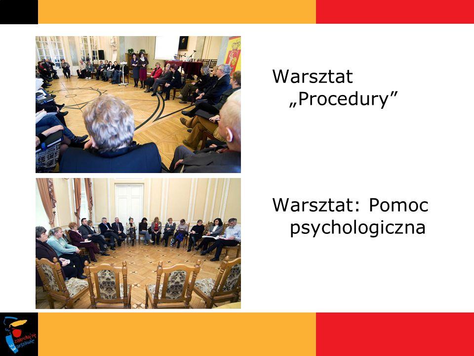 Warsztat Procedury Warsztat: Pomoc psychologiczna