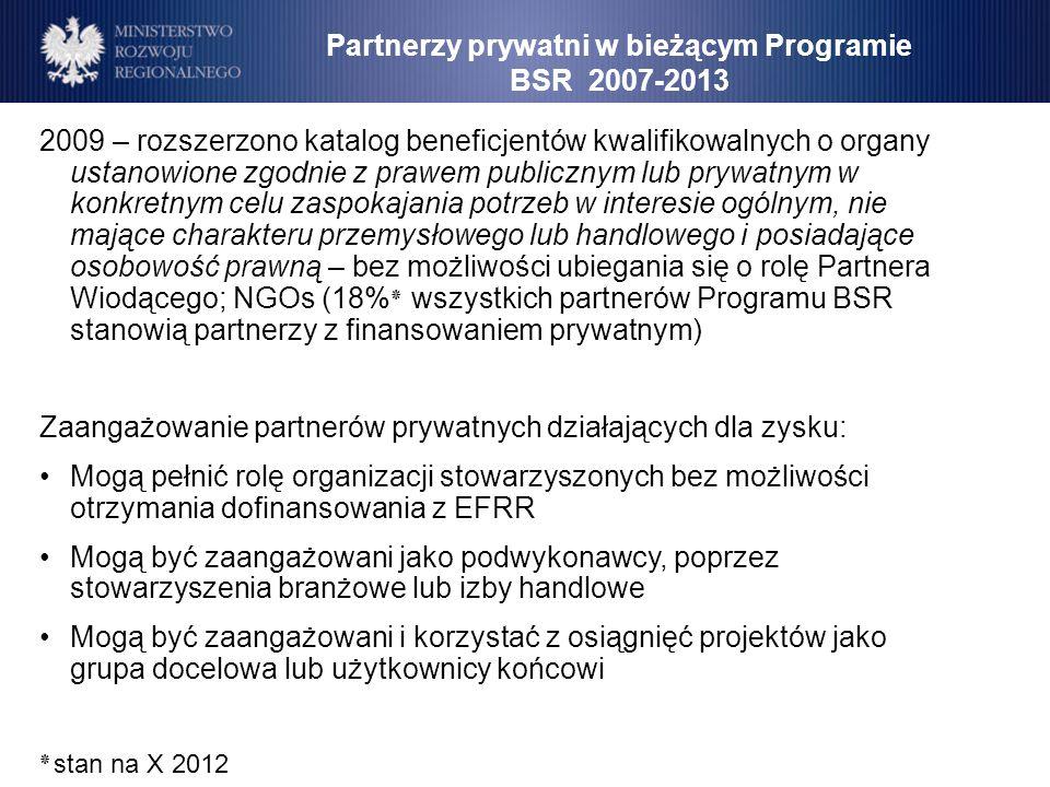 2009 – rozszerzono katalog beneficjentów kwalifikowalnych o organy ustanowione zgodnie z prawem publicznym lub prywatnym w konkretnym celu zaspokajani
