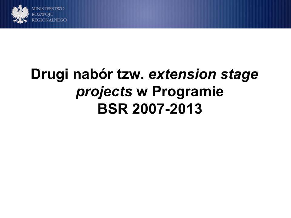 Drugi nabór Extension stage projects Priorytet Tytuł projektu PartnerWiodącyL.