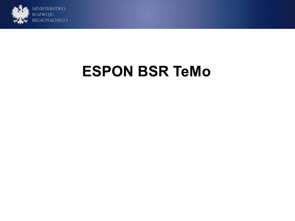 ESPON BSR TeMo