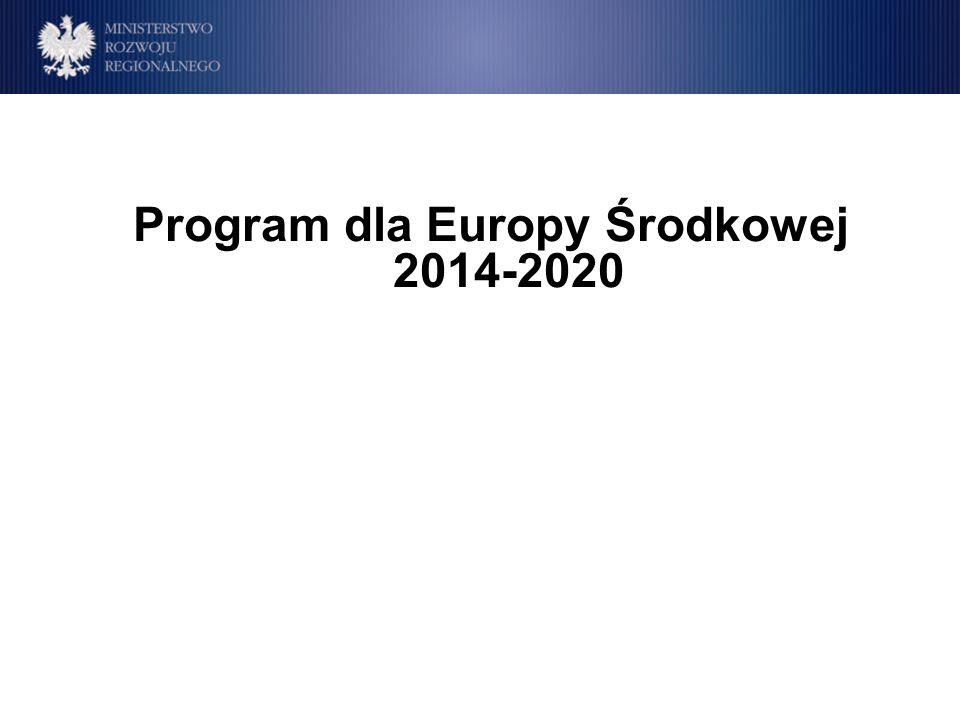 Program dla Europy Środkowej 2014-2020