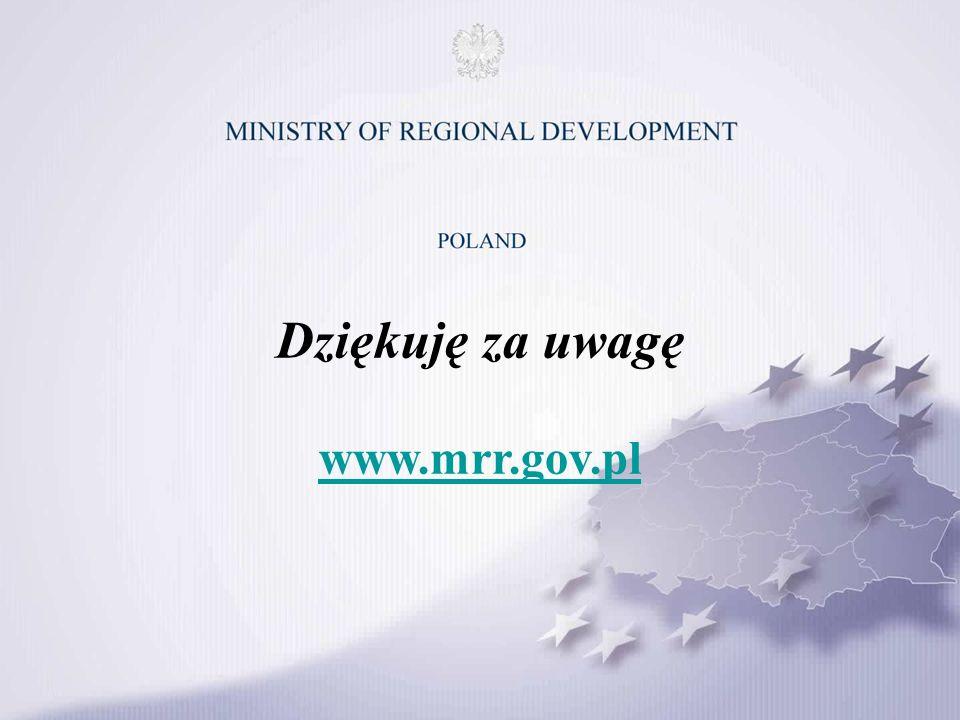 Dziękuję za uwagę www.mrr.gov.pl www.mrr.gov.pl